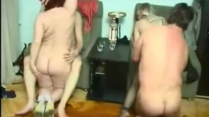 This tight gay foursome party gets messy