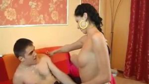 Naughty girlfriend is having a thorough anal fuck with a guy she is in love with