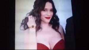 Kat Dennings tall bimbo with a big bubble butt is back in action this time with a stud