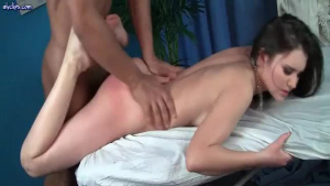 After a blowjob, a sexy brunette is sucking a big, black cock and getting it inside her