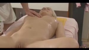 Curly blonde tart fucked by her masseur