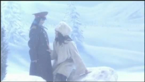 Fat milf seduces teen into interracial fucking in the snow