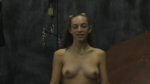 Lianne is slowly getting naked and sucking cock, while in front of the camera