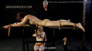 Gorgeous blonde shemale bouncing up and down on a dick at the same time