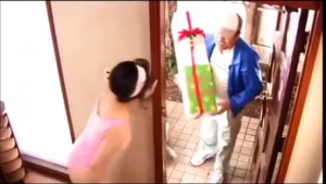 Chubby brunette is getting fucked in the kitchen while her husband is waiting for her at home