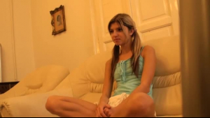 Gina Valentina is giving a great foot massage, while her husband is on his way home