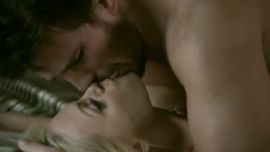 Sensual blonde is being drilled from the back, by a horny black guy she likes a lot
