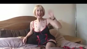 Mature blonde woman and her boss are about to have some casual sex in a hotel room