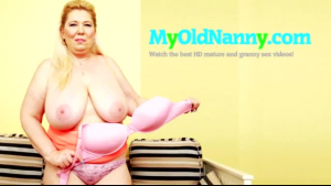 A chubby granny got it from a stranger, while her husband was not at home