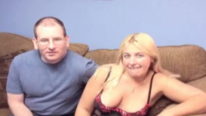 Sexy blonde MILF dances and plays with her pussy