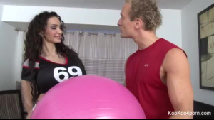 Sexy brunette, Amy Anderssen kinky brunette loves eating hard dong
