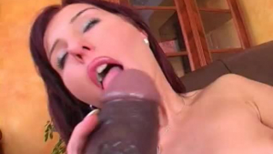 Gorgeous brunette with a huge milk jugs and red hair is about to get creampied