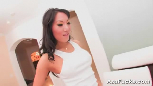Asa Akira is a stunning, blonde babe who likes to play with a big dick in many positions