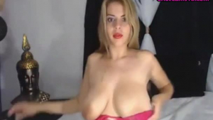 Big titted woman is screaming from pleasure while getting a hard cock inside her slit