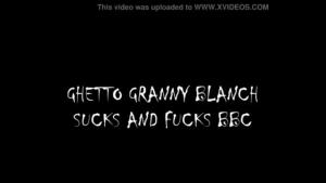 Ebony granny in animal printed lingerie fucks picnic