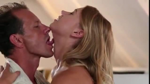 Squirting blonde gets ass cheeks cleansed after sex party