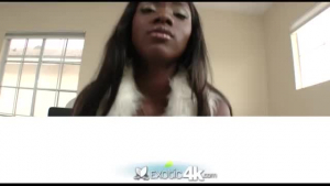 Ebony slut, Ana Rose is fingering her soft private parts in front of a web cam