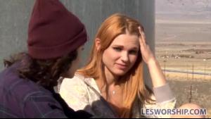 Redhead lesbian licking pussy