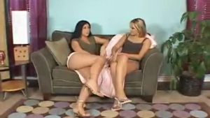 Luscious lesbians licking and fingering