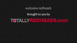 A skinny redhead dyke plays