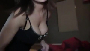 Busty amateur girl peening in public