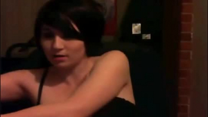 Blue- eyed Latina is getting pounded harder than ever, by her boyfriend, in a hotel room