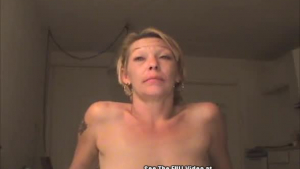 Nasty mature blonde in fishnet stockings just loves to get a big dick in her juicy pussy