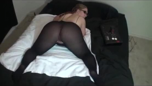 Hot milf in stockings fucked in her hairy snatch