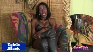 Horny MILF transexual low heeled dude