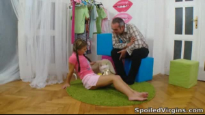 Gorgeous teen in mini skirt is about to have sex with her boyfriend's step- brother
