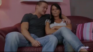 Insatiable brunette with big tits is up for a good fuck and loads of cum on her tits