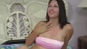 Horny blonde is rubbing her soaking wet pussy, while her lover is trying to join her