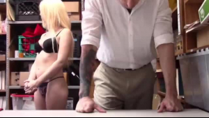 Big ass blonde is eager for a good fuck, and is riding her boyfriend's rock hard rod