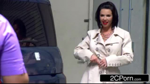 Veronica Avluv was in a hotel room when a security guy showed up and fucked her good