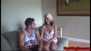 A busty blonde girl getting hard cock