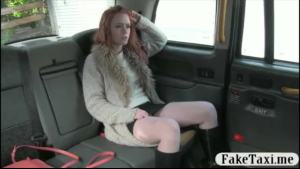 Red haired babe, Kathina Nicole dildoing her pussy before riding photographer
