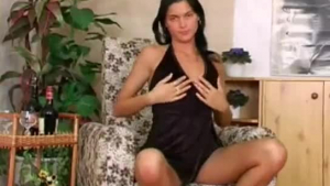 Black babe posing at home