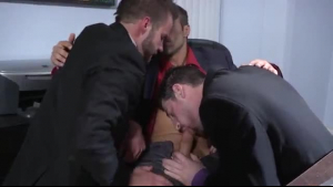 Anal loving lesbians are having fun in the office, while no one else is there