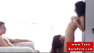 Slutty ladyboy babe likes to suck her boyfriend's cock and receives a blowjob on the same day