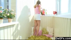 Two fat chicks are taking turns masturbating like crazy and moaning from pleasure while having orgasms