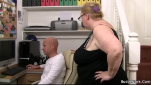 AVN Boss supervising slaves handling massive cock