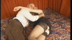 Italian wife is getting fucked from the back while sucking another cock and loving it