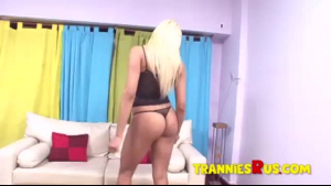 Blonde Latina fucked from behind by the pool