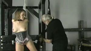 Kinky chick is screaming from pleasure in front of the camera, because her neighbors are watching her