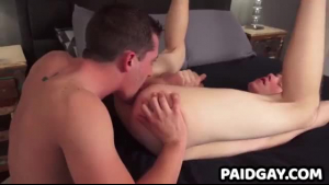 Blue eyed twink handles in deep anal and rimjob