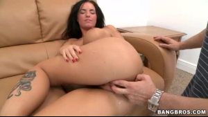 Anal fucked nympho Christy Mack gets a facial