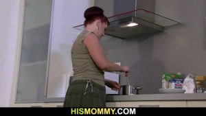 Hot mom seduced her son's girlfriend and did her best to make her moan from pleasure