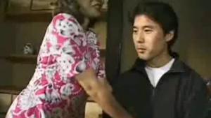 A mature guy teasing a nymphoke teenager