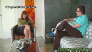 Mommy Maze Parker plays with her teen pussy