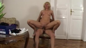 Sexy blonde with amazing boobs fucked and facialized